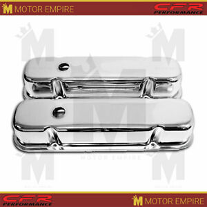 For 59 79 Pontiac 301 326 350 389 400 421 428 455 V8 Tall Valve Covers Chrome