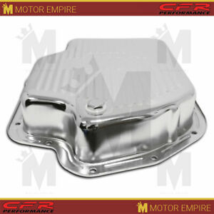 Fits Chevy Gm Turbo Th 400 Steel Transmission Pan Deep Sump Chrome