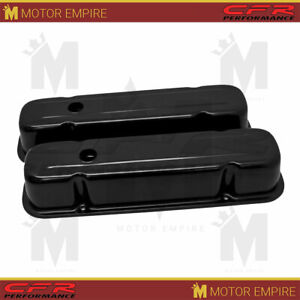 For 59 79 Pontiac 301 326 350 389 400 421 428 V8 Tall Steel Valve Covers Black