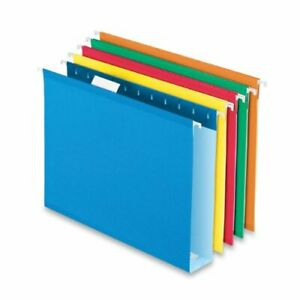 Esselte Colored Box Bottom Hanging Folder Letter 8 50 X 11 1 Pockets