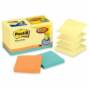 Post it Pop up Notes Value Pack In Canary Yellow Plus 4 Free Neon Pads 3 X 3