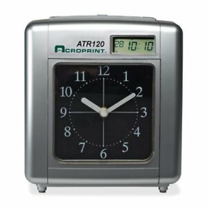 Acroprint Atr120 Electronic Time Clock Card Punch stamp acp010212000