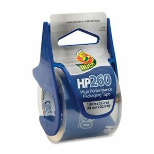 Duck Hp260 Packaging Tape With Dispenser 1 88 Width X 66 60 Ft Length 1 50