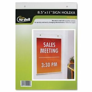 Nu dell Manufacturing 38011z Clear Plastic Sign Holder Wall Mount 8 1 2 X 11