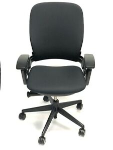Steelcase Leap Chair V2 Fully Loaded Black Fabric