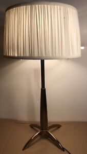 Vintage Stiffel Mcm Atomic Rocket Table Lamp Gerald Thurston Nice