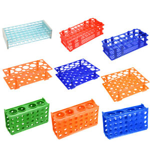 Various Sizes Test Tube Rack Holder Polypropylene Lab Testing Tube Stand Bracket