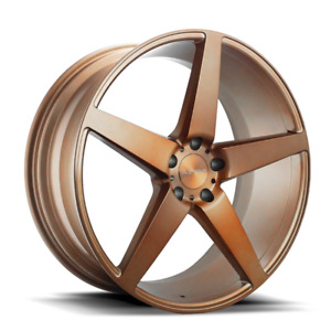 22x9 22x10 5 Element El005 5x115 15 20 Brush Rose Gold Wheels Rims Set 4