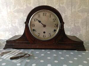 Antique Mantle Clock Nelson Hat Westminster Chiming For Restoration 43x23x15cm