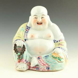 Chinese Porcelain Seated Budai Laughing Buddha China Buddhism 20th C