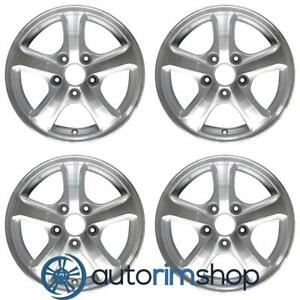 Honda Civic 2012 2013 2014 2015 15 Oem Wheel Rim Set Machined Silver