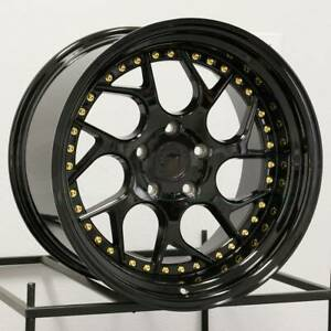 19x10 5 Aodhan Ds01 Ds1 5x108 22 Gloss Black Wheels Rims Set 4