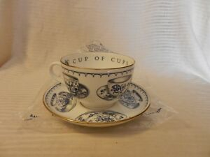 For Him Rare Giant Cup Of Cup S Teacup By Royal Worcester V I P Blue 1995