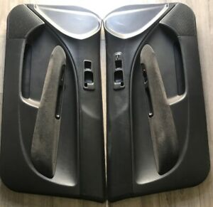 96 97 98 99 00 Honda Civic 2dr Coupe Driver Passenger Door Panels Gray