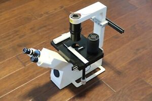 Carl Zeiss Telaval 31 Inverted Microscope 10x Eyepieces 5x 20x Objectives