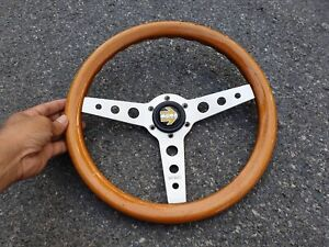 Rare Vintage 1980 Momo Wood Steering Wheel Bmw Toyota Mini Volvo Benz Datsun Vw