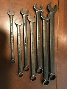 Snap On Tool Sae Flank Drive Wrench Set Goex707b 3 8 3 4 Industrial Finish Black
