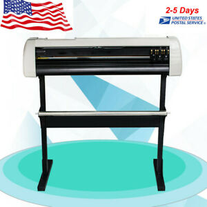 33 Vinyl Cutting Plotter Sign Cutter 850mm Paper Feed Machine With Stand