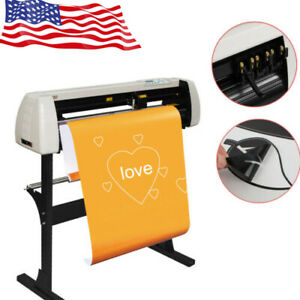 28 Vinyl Cutter Plotter Cutting Plotter Machine 720mm Paper Feed With Stand