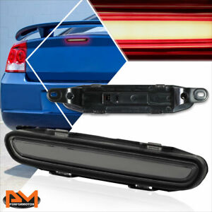 For 06 10 Dodge Charger 3d Led Bar 3rd Tail Brake Light Rear Stop Lamp Smoked