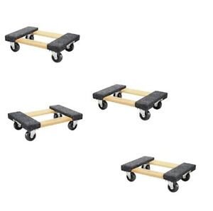 Dolly Moving Dolly 4 Pack 1000lb Capacity Small Wood Mover Furnitur