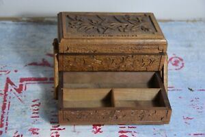 Vintage Black Forest Sewing Box Black Forest Wooden Box Wooden Sewing Box