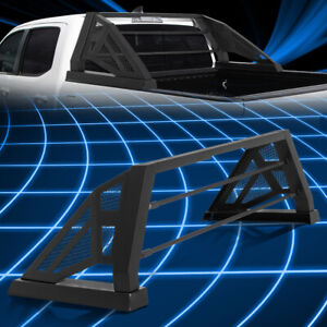 For 05 18 Toyota Tacoma Truck Bed Matte Black Aluminum Chase Rack Roll Bar Cage