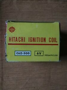 6 Volt Hitachi Ignition Coil C6z 500 New Old Stock