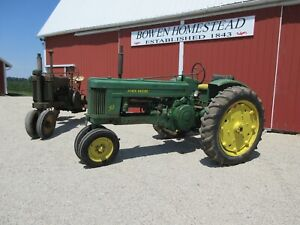 1953 John Deere Model 50 Row Crop Tractor W fenders