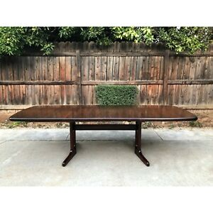 Vintage Mid Century Danish Modern Dyrlund Rosewood Extending Dining Table