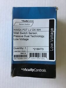 Acuity Controls Nwsx pdt lv dx wh Wall Switch Sensor Passive Dual Technology