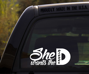 She Wants The D Decal Sticker For Duramax Diesel 4x4 Truck