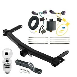 Trailer Tow Hitch For 14 20 Dodge Durango Complete Package W Wiring 2 Ball