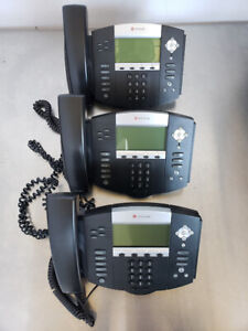 Lot 3 Polycom Soundpoint Ip 550 Sip Voip Business Phone 2201 12550 001