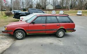 Rare 1987 Subaru Gl 10 Turbo 4wd 5 Speed Manual 4x4