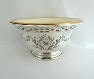 Dominick Haff Sterling Silver Lenox China Boullion Soup Bowl Liner
