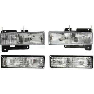 Headlight Kit For 94 98 Chevrolet K1500 94 99 K1500 Suburban Left And Right 4pc