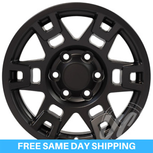 Toyota 17 Black Trd Pro Wheels Tacoma 4runner Fj Cruiser One Rim New On Box