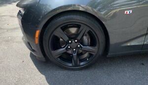 20 Chevy Camaro Ss Oem Staggered Black Wheels Rims Tires 5759 5753 2016 2019