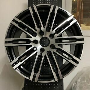 20 Black Machine Turbo Gts Style Wheels Rims Fits Cayenne Gts S 4s Hybrid