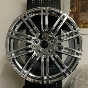 20 Chrome Turbo Gts Style Wheels Rims Fits Cayenne Gts S 4s Hybrid