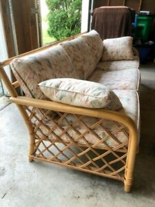 Gorgeous Ficks Reed Rattan Chair And Sofa Perfect For Sunroom