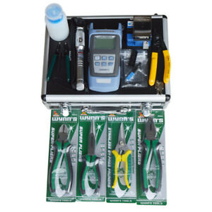 Fiber Optic Ftth Tools Kit Fiber Cleaver Optical Power Meter Strippers Visual Us