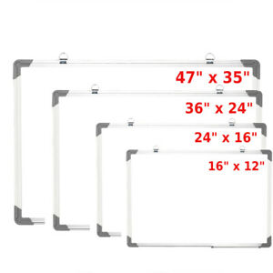 16 24 35 Office Aluminum Frame Magnetic Whiteboard Dry Erase Board With Pen