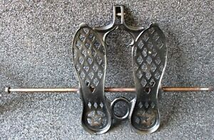 Antique Florence Sewing Machine Cast Iron Foot Pedal W Texas Star