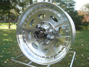 1 19 5 X 7 50 Vision Aluminum Singles Dodge Chevy Ford Wheels 8 Lug