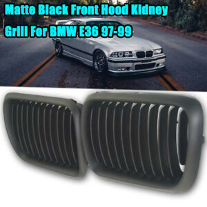 Black Kidney Grille Grill For Bmw E36 3 Series E36 318 323 328 M3 97 1999 Matte