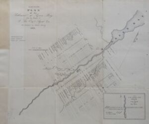 1821 Plan Of The Settlement Of Green Bay Wi Wisconsin Territorial Map