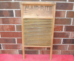 Columbus Maid Rite Vintage Brass Washboard Standard Family Size Model No 2062