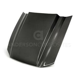 Anderson Composites Type cj Carbon Fiber Cowl Hood Fits 2013 2014 Ford Mustang